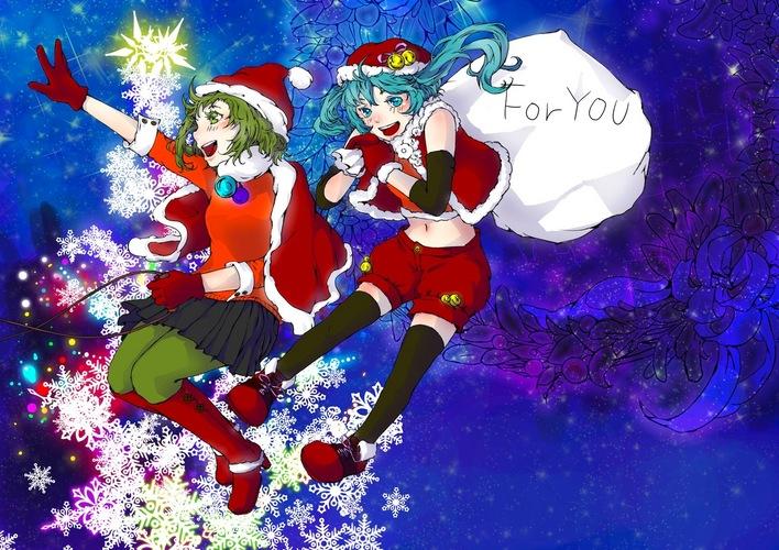 初音ミクイラストクリスマス