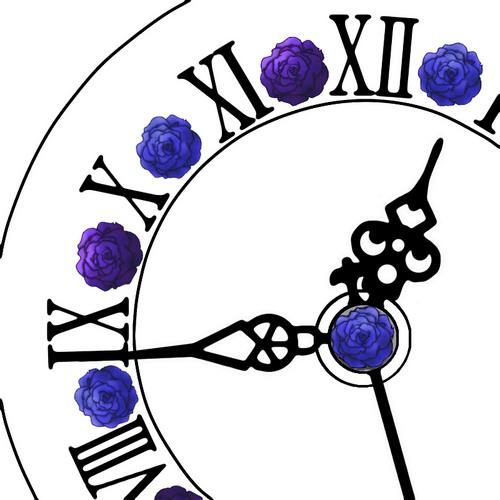 Piapro ピアプロ イラスト 詰め合わせ 青と紫の薔薇時計