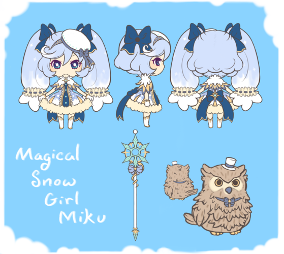 Magical Snow Girl Miku