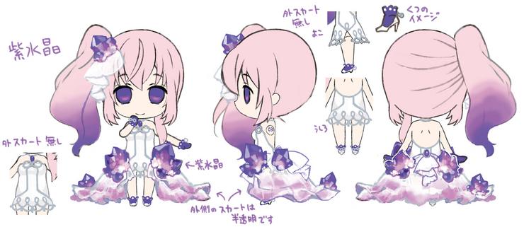 Piaproピアプロイラスト宝石衣装 紫水晶ルカさん