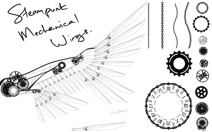 SteamPunk Mechanical Wing Design