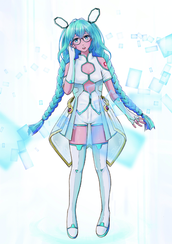 Crystal glasses Miku