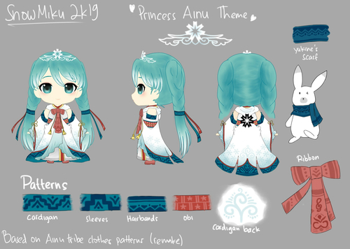 2019年雪ミク衣装  -Princess Ainu Theme-