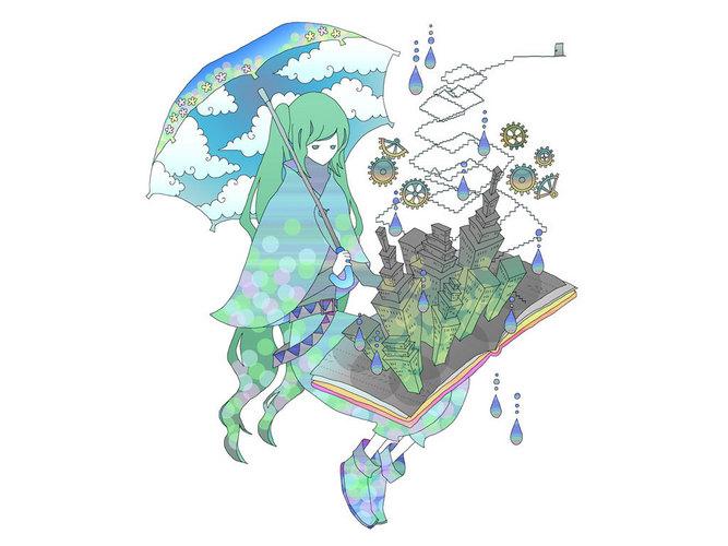Piaproピアプロイラスト世界の最後に傘をさす