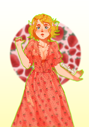 鏡音リン Strawberry dress #2