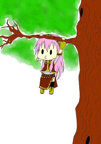 Piaproピアプロイラスト木登りをした結果