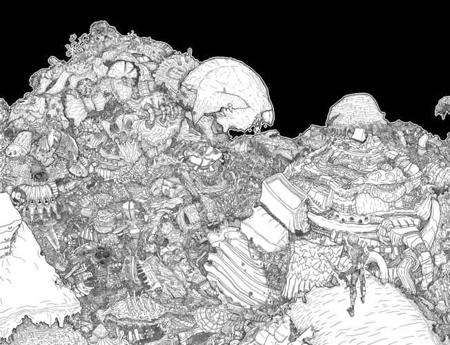 Piaproピアプロイラストゴミ山の戦士