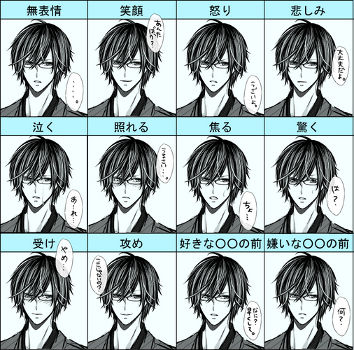 Piaproピアプロイラスト表情差分練習