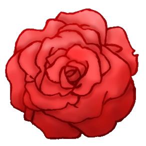 Piapro ピアプロ イラスト 詰め合わせ 赤系の色の薔薇 透過済み