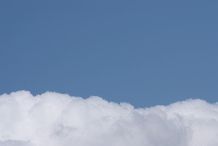 背景用写真,雲と空の境界線