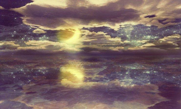 Piaproピアプロイラスト幻想的風景月夜加工自由フリー素材