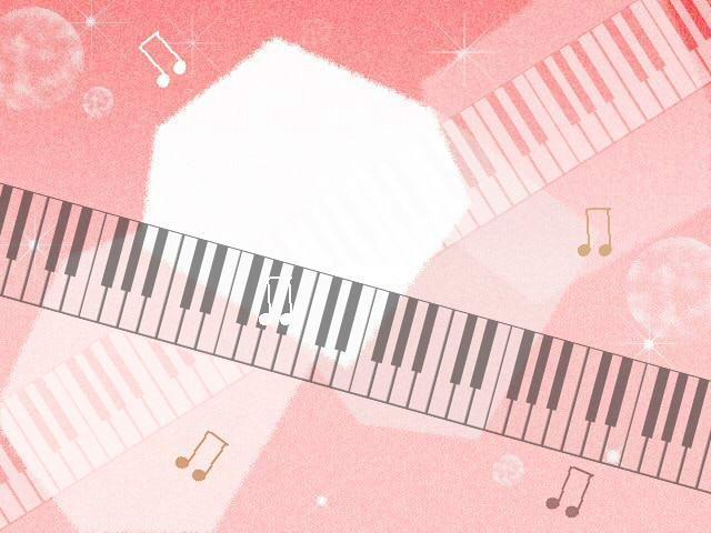 Piaproピアプロイラストポップな楽譜背景向きフリー素材