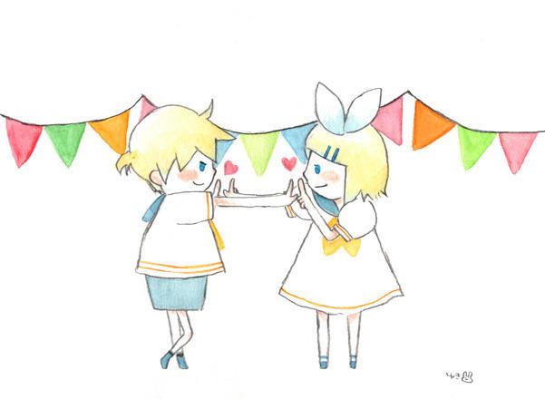 Piaproピアプロイラスト鏡音で恋ダンス