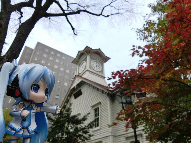 Piaproピアプロイラスト札幌時計台の前で