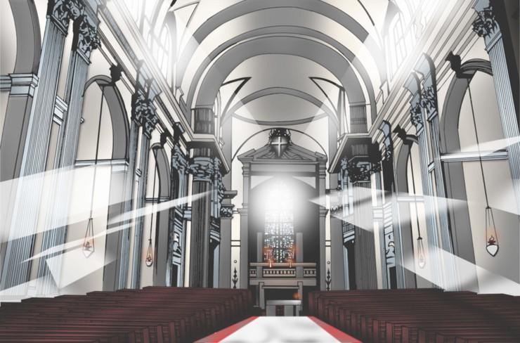 Piaproピアプロイラスト教会 内装
