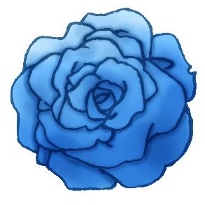 Piapro ピアプロ イラスト 詰め合わせ 青系の色の薔薇 透過済み