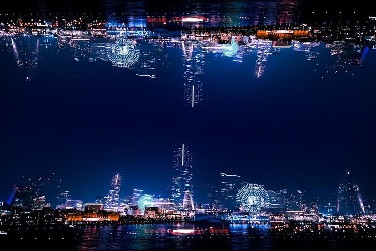 Piaproピアプロイラスト幻想的なみなとみらいの夜景 寺田茂