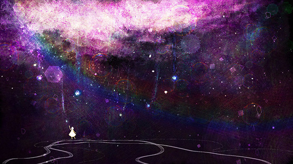 Piapro ピアプロ イラスト 絵素材 紫の雨 星を捕まえる Piapro経由限定