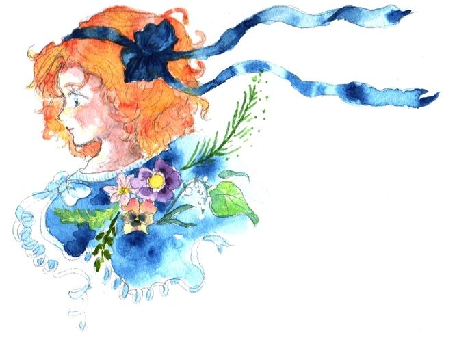 Piaproピアプロイラスト花飾り
