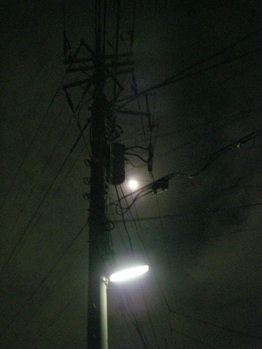 The full moon which there is  in a Triangle ( Autumn, 2009 )