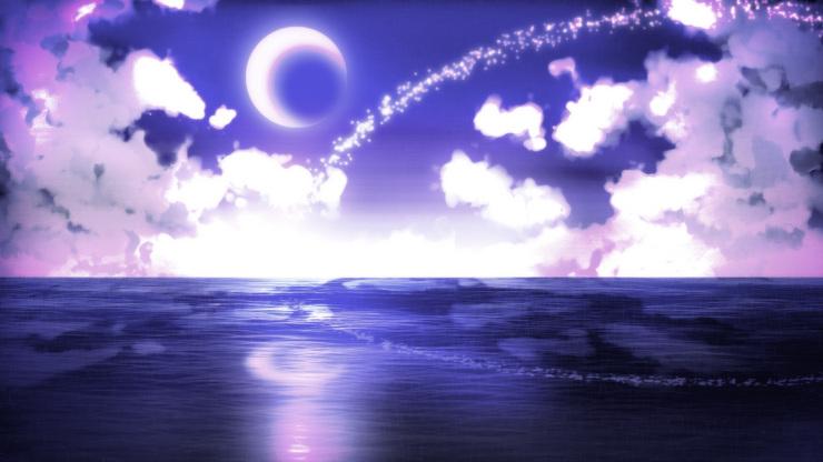 Piaproピアプロイラストフリー素材幻想的夜空