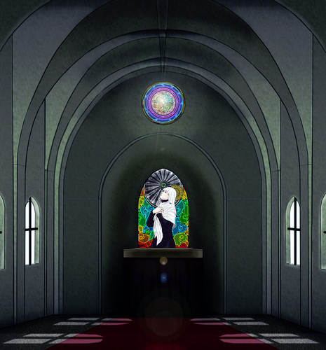 Piaproピアプロイラスト教会風背景
