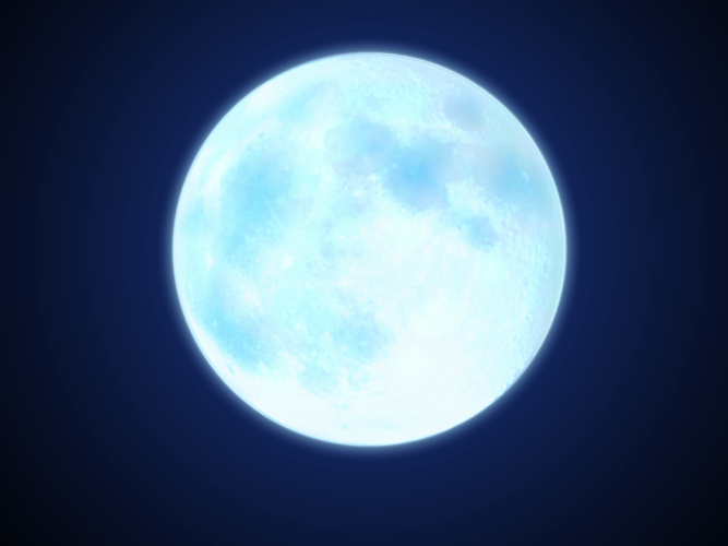 Piaproピアプロイラスト青い月