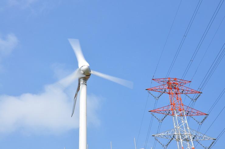 Piaproピアプロイラスト風力発電 と アンテナ