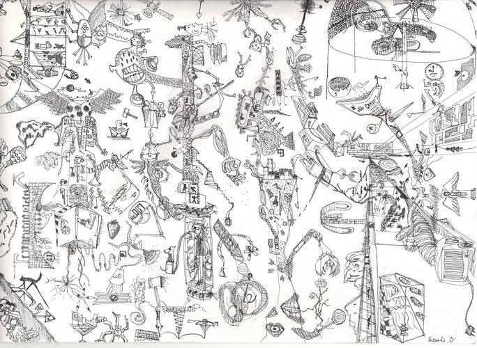 Piaproピアプロイラストペン画イラスト