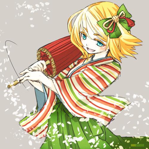 Piaproピアプロイラスト袴と番傘