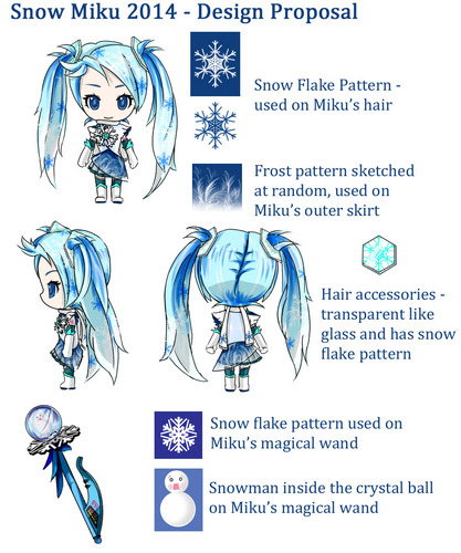 Snow Miku 2014 - glass frost miku