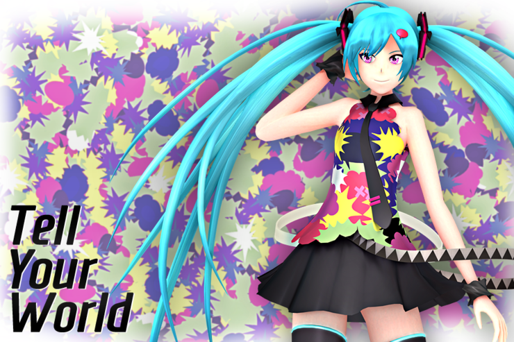【Blender】OS式初音ミク5 (Tell Your World 服装)