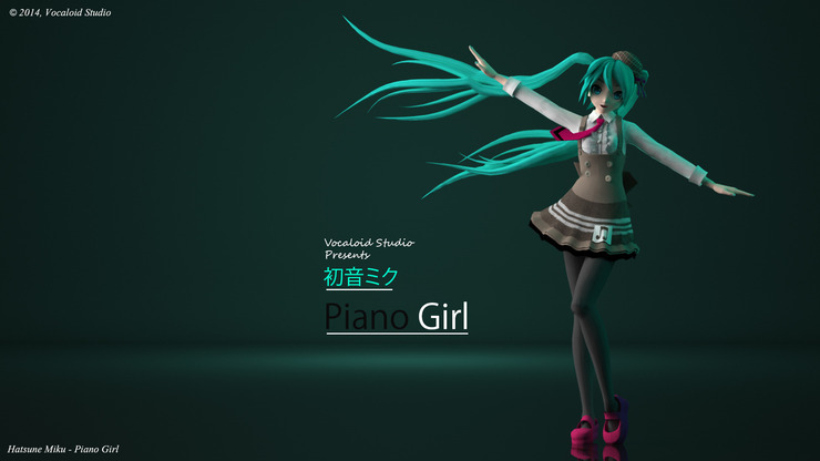 Hatsune Miku - Piano Girl (Project Diva F 2nd Modules)