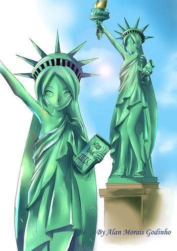 Piaproピアプロイラスト自由の女神ミク